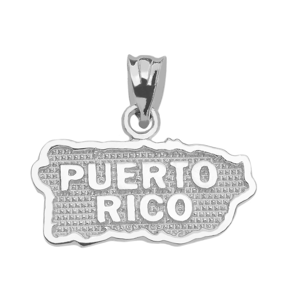 Puerto Rico Pendant in Sterling Silver - solid gold, solid gold jewelry, handmade solid gold jewelry, handmade jewelry, handmade designer jewelry, solid gold handmade designer jewelry, chic jewelry, trendy jewelry, trending jewelry, jewelry that's trending, handmade chic jewelry, handmade trendy jewelry, mod-chic jewelry, handmade mod-chic jewelry, designer jewelry, chic designer jewelry, handmade designer, affordable jewelry
