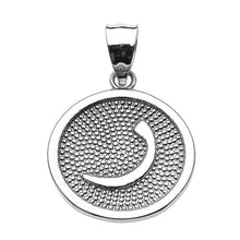 Load image into Gallery viewer, Arabic Farsi Initial Alphabet Charm Pendant in Sterling Silver