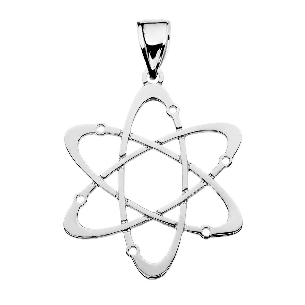 Carbon Atom Science Pendant in Sterling Silver