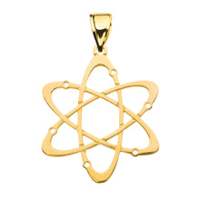 Load image into Gallery viewer, Carbon Atom Science Pendant in Gold