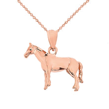 Load image into Gallery viewer, Pony Horse Bracelet Charm or Pendant and Necklace in Gold