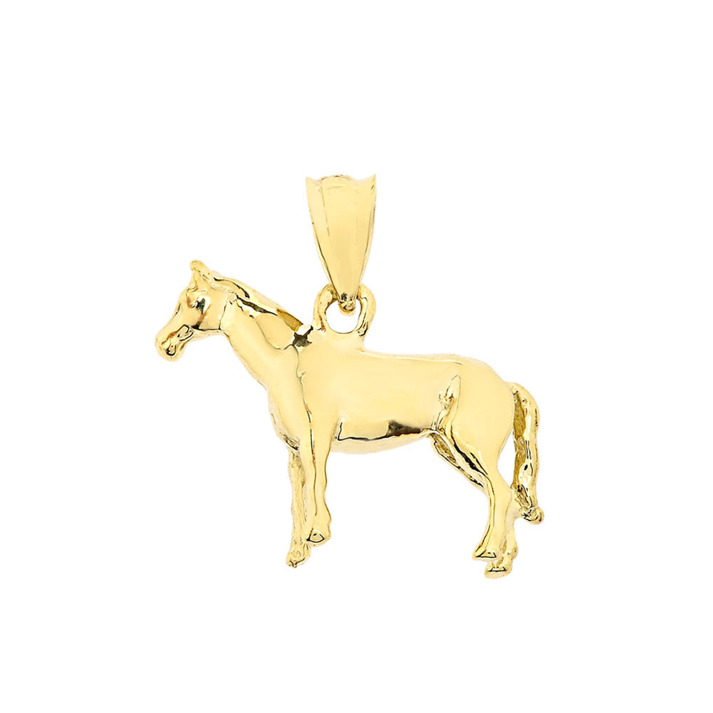 Pony Horse Bracelet Charm or Pendant and Necklace in Gold
