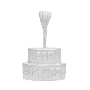 Birthday Cake Pendant in Gold