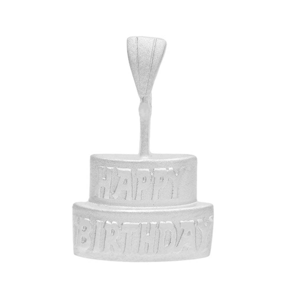Birthday Cake Pendant in Sterling Silver