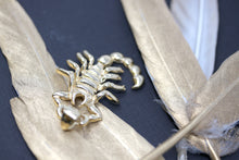 Load image into Gallery viewer, Large Scorpio Zodiac Scorpion Pendant in Gold
