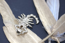 Load image into Gallery viewer, Large Scorpio Zodiac Scorpion Pendant in Sterling Silver