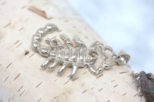 Large Scorpio Zodiac Scorpion Pendant in Sterling Silver