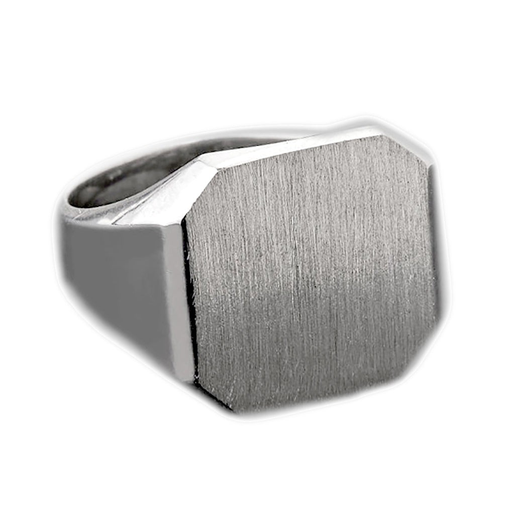 Mens Large Square Signet Ring in Sterling Silver - solid gold, solid gold jewelry, handmade solid gold jewelry, handmade jewelry, handmade designer jewelry, solid gold handmade designer jewelry, chic jewelry, trendy jewelry, trending jewelry, jewelry that's trending, handmade chic jewelry, handmade trendy jewelry, mod-chic jewelry, handmade mod-chic jewelry, designer jewelry, chic designer jewelry, handmade designer