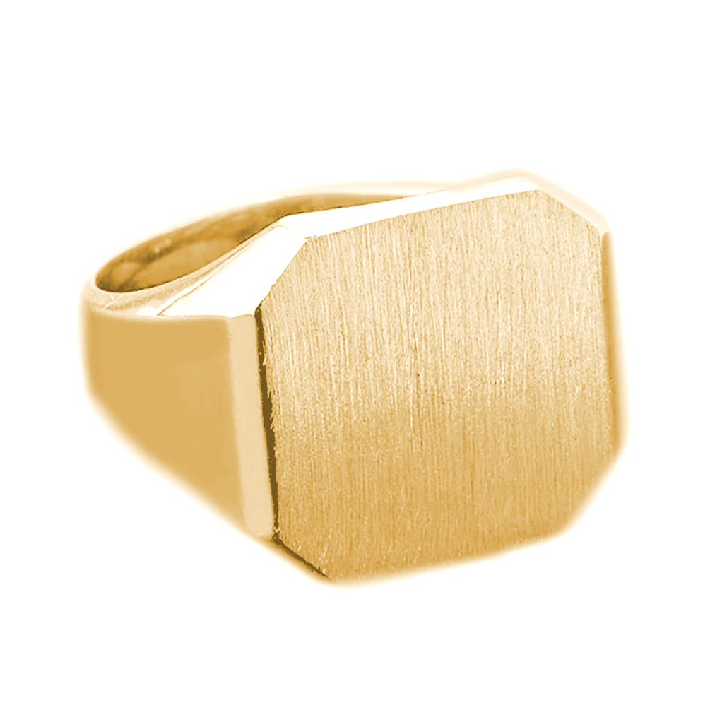 Mens Large Square Signet Ring in Gold - solid gold, solid gold jewelry, handmade solid gold jewelry, handmade jewelry, handmade designer jewelry, solid gold handmade designer jewelry, chic jewelry, trendy jewelry, trending jewelry, jewelry that's trending, handmade chic jewelry, handmade trendy jewelry, mod-chic jewelry, handmade mod-chic jewelry, designer jewelry, chic designer jewelry, handmade designer