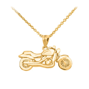 Motorcycle Pendant in Gold