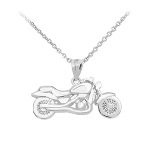 Motorcycle Pendant in Sterling Silver