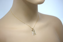 Load image into Gallery viewer, Handmade Musical Note Treble Clef Charm Keychain Pendant and Necklace in Gold