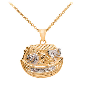 Noah's Ark Pendant in Gold
