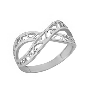Forever Filigree Infinity Ring in Sterling Silver - solid gold, solid gold jewelry, handmade solid gold jewelry, handmade jewelry, handmade designer jewelry, solid gold handmade designer jewelry, chic jewelry, trendy jewelry, trending jewelry, jewelry that's trending, handmade chic jewelry, handmade trendy jewelry, mod-chic jewelry, handmade mod-chic jewelry, designer jewelry, chic designer jewelry, handmade designer