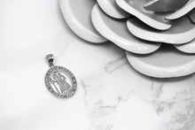 Load image into Gallery viewer, Saint Christopher Charm Pendant and Necklace in Sterling Silver