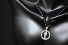 Load image into Gallery viewer, Saint Jude Pray for Us Charm Pendant and Necklace in Sterling Silver