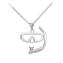 Load image into Gallery viewer, Scuba Diving and Snorkel Mask Pendant in Sterling Silver