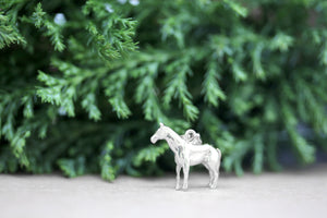 Pony Horse Bracelet Charm or Pendant and Necklace in Sterling Silver
