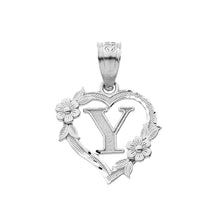 Load image into Gallery viewer, Alphabet Initial Heart Pendant for Women in Two-Tone Gold