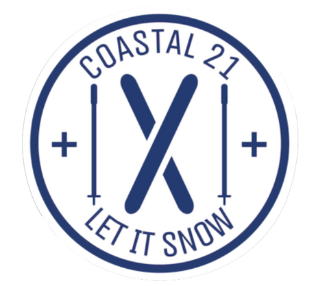 Let It Snow Skiing Sticker