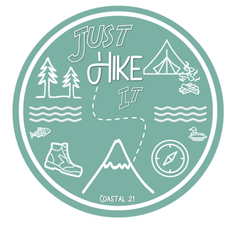 Just Hike It Sticker