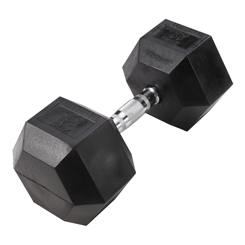 Body-Solid Rubber Coated Hex Dumbbells