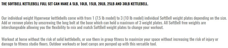 Hyperwear Softbell Kettlebell Full Set