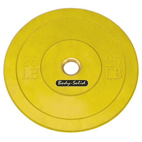 Body-Solid Olympic Rubber Coloured Bumper Plates