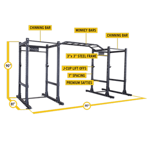 Body-Solid Commercial Double Power Rack Package