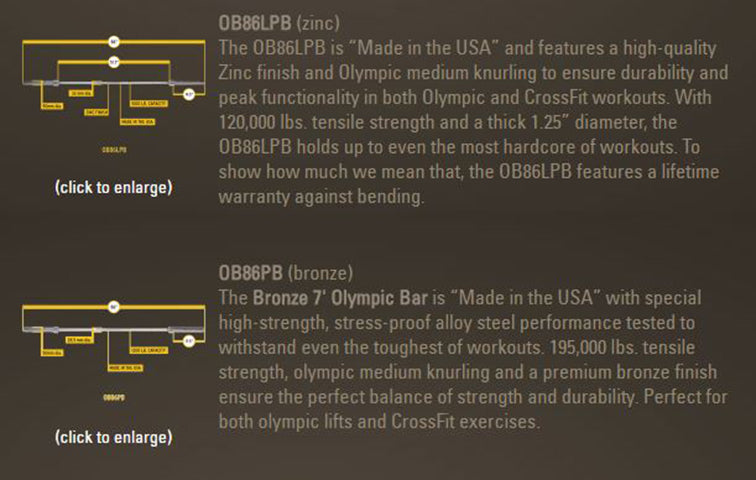 Body-Solid Olympic Power Bars