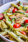 Penne Pesto pasta with chicken