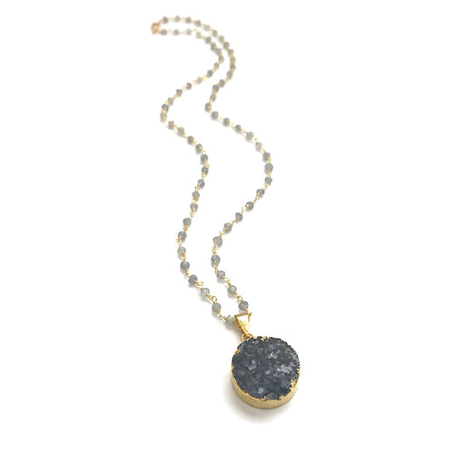 Druzy Circle Necklace