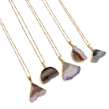 Druzy Slice Necklace