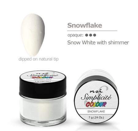 NSI Simplicité colour pot Snowflake 7g