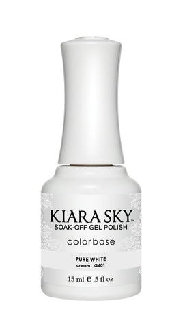 Kiara Sky Gel Polish Pure White - G401