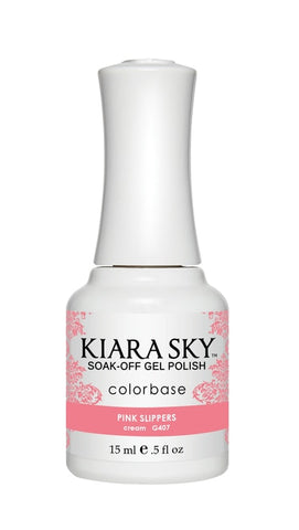 Kiara Sky Gel Polish Pink Slippers - G407