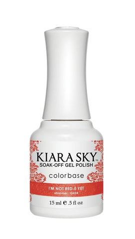 Kiara Sky Gel Polish I'm Not Red-E Yet - G424
