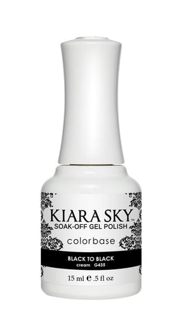 Kiara Sky Gel Polish Back To Black - G435