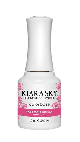 Kiara Sky Gel Polish Back To The Fuschia - G453