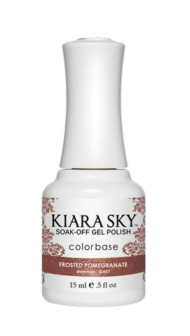 Kiara Sky Gel Polish Frosted Pomegranate - G457