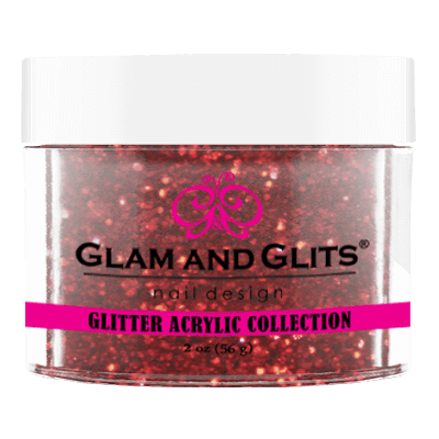 Glam & Glits Glitter Collection - Fire red