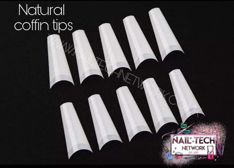 Natural Coffin Nail Tips