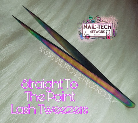 Straight to the point lash tweezers