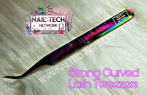 Strong Curved Lash Tweezers