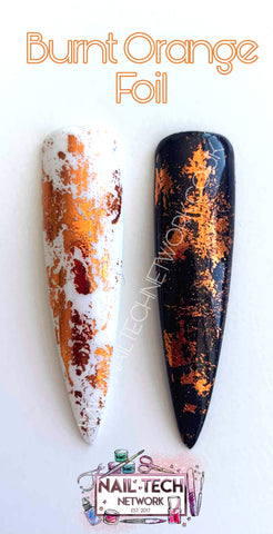 Burnt Orange Nail Foil