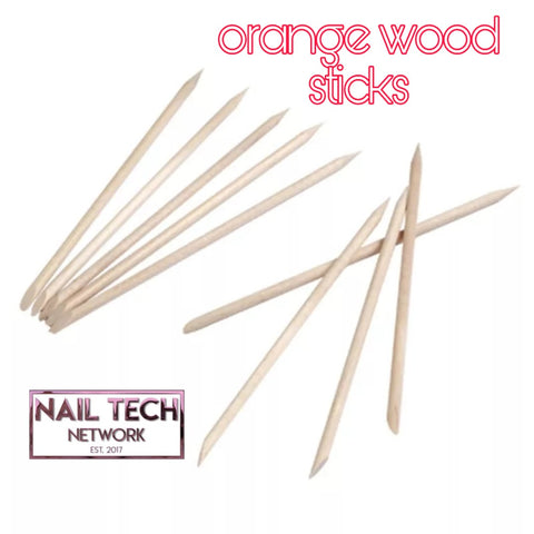 Orange wood sticks