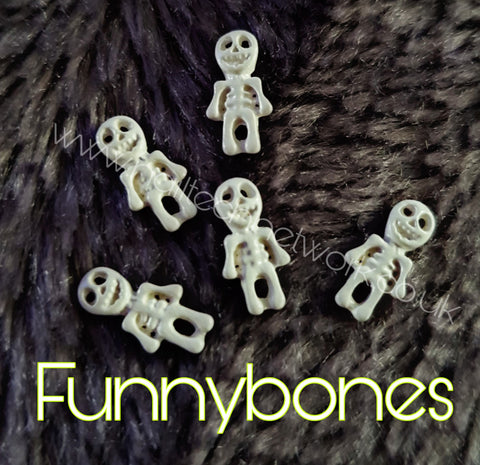 Funnybones skeleton charms