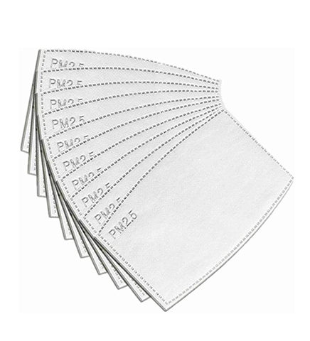 pm 2.5 filters for face masks 10 pack