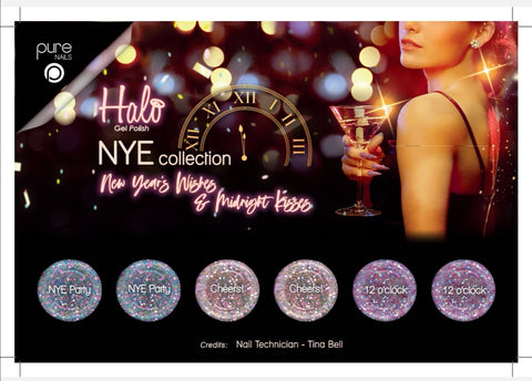 Halo gel polish NYE collection