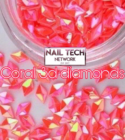 Coral diamonds 3D glitter